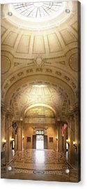 Acrylic Print featuring the photograph City - Annapolis Md - Bancroft Hall by Mike Savad