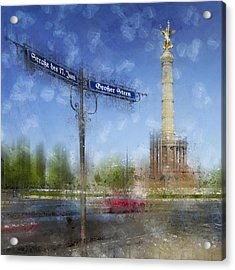 City-art Berlin Victory Column Acrylic Print