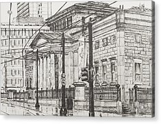 City Art Gallery Acrylic Print by Vincent Alexander Booth