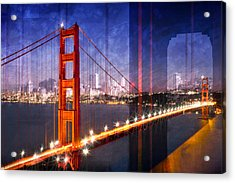 City Art Golden Gate Bridge Composing Acrylic Print