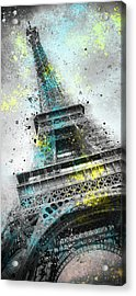 City-art Paris Eiffel Tower IIi Acrylic Print by Melanie Viola