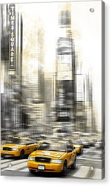 City-art Times Square Acrylic Print by Melanie Viola
