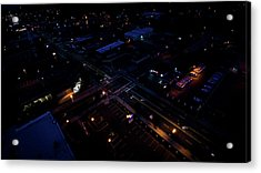 City At Night From Above Acrylic Print