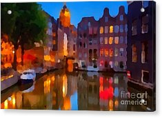 City Block 900 Soft And Dreamy In Thick Paint Acrylic Print