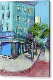 City Blue Acrylic Print by Russell Pierce