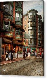City - Boston Ma - The North Square Acrylic Print