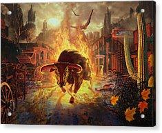City Bull City Acrylic Print