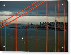 City By The Bay Acrylic Print by Patrick  Flynn