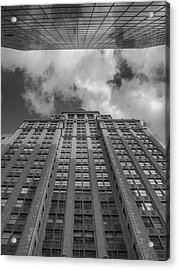 City Canyon Black And White Acrylic Print by Joshua House