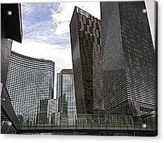 City Center At Las Vegas Acrylic Print by Karen J Shine