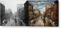 City - Cincinnati Oh - Tyler Davidson Fountain 1907 - Side By Side Acrylic Print