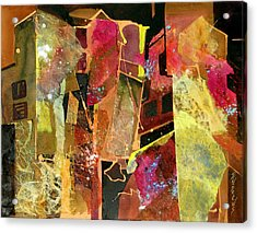 City Colors Acrylic Print by Rae Andrews