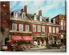 City - Easton Md - A Slice Of American Life 1936 Acrylic Print by Mike Savad