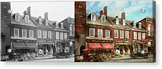 City - Easton Md - A Slice Of American Life 1936 - Side By Side Acrylic Print by Mike Savad