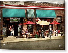 Acrylic Print featuring the photograph City - Edison Nj - Pino's Basket Shop by Mike Savad