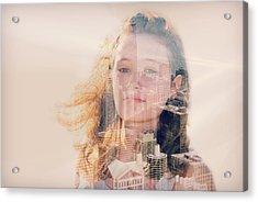 City Girl Acrylic Print by Maria Dryfhout