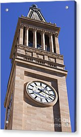 City Hall Clock Tower Acrylic Print by Jorgo Photography - Wall Art Gallery