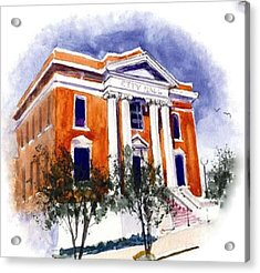 City Hall  Hattiesburg  Mississippi Acrylic Print by Bobby Walters