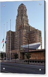City Hall Acrylic Print by Peter Chilelli
