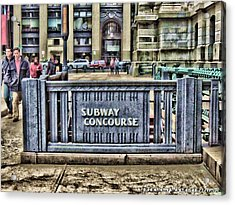 City Hall Sidewalk Acrylic Print