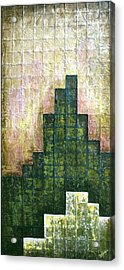 City In Green Acrylic Print