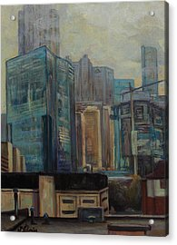 City In The Cityscape Acrylic Print by Maris Salmins