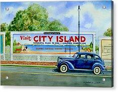 City Island Billboard Acrylic Print by Marguerite Chadwick-Juner