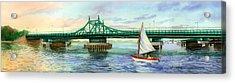 City Island Bridge Late Afternoon Acrylic Print