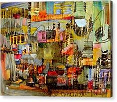 City Life  Acrylic Print by Nancy Kane Chapman