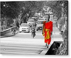 City Life In Laos Acrylic Print by Ryan Scholl