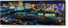 City Lifescape View Las Vegas Acrylic Print