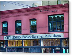 City Lights Booksellers Acrylic Print by Garry Gay