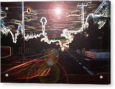 City Lights Acrylic Print by Joshua Sunday