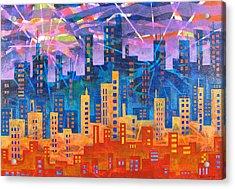 City Lights Acrylic Print by Rollin Kocsis
