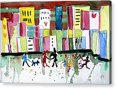 City Love Acrylic Print by Mindy Newman