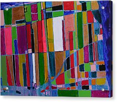City Map Acrylic Print by Russell Simmons