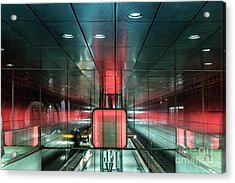 City Metro Station Hamburg Acrylic Print