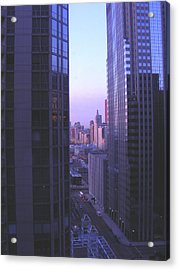 City Morning Between  Acrylic Print by Peter  McIntosh
