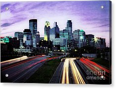 Acrylic Print featuring the photograph City Moves by Scott Kemper