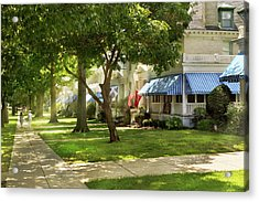 Acrylic Print featuring the photograph City - Naval Academy - A Walk Down Captains Row by Mike Savad