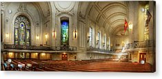 Acrylic Print featuring the photograph City - Naval Academy - God Is My Leader by Mike Savad