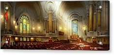 Acrylic Print featuring the photograph City - Naval Academy - The Chapel by Mike Savad