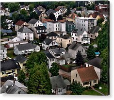 City Neighborhood Acrylic Print by Anthony Dezenzio