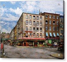 City - New York Ny - Fraunce's Tavern 1890 Acrylic Print by Mike Savad