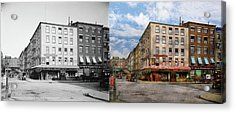 City - New York Ny - Fraunce's Tavern 1890 - Side By Side Acrylic Print by Mike Savad