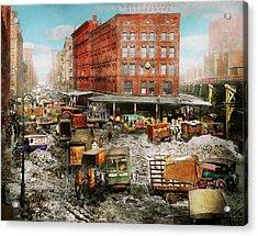 City - New York Ny - Stuck In A Rut 1920 Acrylic Print