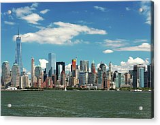 Acrylic Print featuring the photograph City - New York Ny - The New York Skyline by Mike Savad