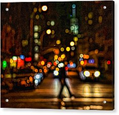 City Nights, City Lights Acrylic Print
