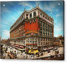 Acrylic Print featuring the photograph City - Ny New York - The Nation's Largest Dept Store 1908 by Mike Savad