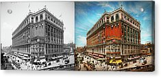 Acrylic Print featuring the photograph City - Ny New York - The Nation's Largest Dept Store 1908 - Side by Mike Savad